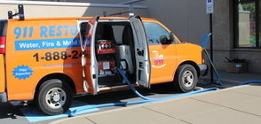 Water Damage and Mold Cleanup Vehicle